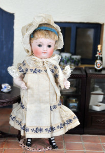 Kestner All-Bisque Doll in Miniature Room by Denise Van Patten